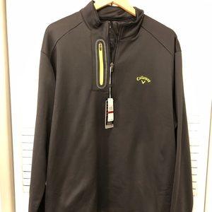NWT! Men's Black Callway half zip sweater